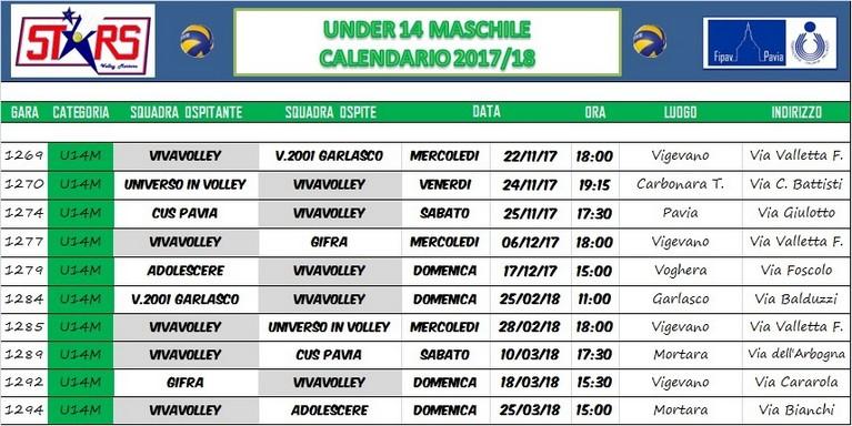 Calendario Maschile 2020.Calendario Gare Under 14 Maschile Blog E News Sito